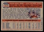 1957 Topps #194  Hal Brown  Back Thumbnail