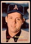1957 Topps #207  Billy Hunter  Front Thumbnail