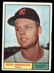 1961 Topps #24  Ken Johnson  Front Thumbnail