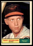 1961 Topps #182  Dave Nicholson  Front Thumbnail