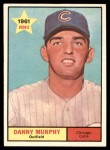 1961 Topps #214  Danny Murphy  Front Thumbnail