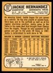 1968 Topps #352  Jackie Hernandez  Back Thumbnail