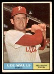 1961 Topps #78  Lee Walls  Front Thumbnail