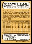 1968 Topps #453  Sammy Ellis  Back Thumbnail
