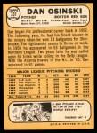 1968 Topps #331  Dan Osinski  Back Thumbnail