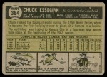 1961 Topps #384  Chuck Essegian  Back Thumbnail