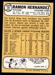 1968 Topps #382  Ramon Hernandez  Back Thumbnail