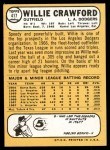 1968 Topps #417  Willie Crawford  Back Thumbnail