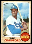 1968 Topps #417  Willie Crawford  Front Thumbnail
