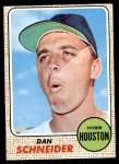1968 Topps #57  Dan Schneider  Front Thumbnail
