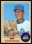 1968 Topps #437  Don Cardwell  Front Thumbnail