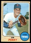 1968 Topps #393  Jim Perry  Front Thumbnail