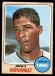 1968 Topps #352  Jackie Hernandez  Front Thumbnail