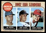 1968 Topps #8   -  Joe Horlen / Gary Peters / Sonny Siebert AL ERA Leaders Front Thumbnail