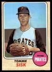 1968 Topps #429  Tommie Sisk  Front Thumbnail