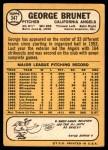 1968 Topps #347  George Brunet  Back Thumbnail