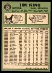 1967 Topps #509  Jim King  Back Thumbnail