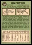 1967 Topps #390  Jim Wynn  Back Thumbnail