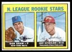 1967 Topps #587   -  Don Shaw / Gary Sutherland NL Rookies Front Thumbnail