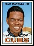 1967 Topps #524  Felix Mantilla  Front Thumbnail