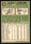 1967 Topps #208  Jack Lamabe  Back Thumbnail