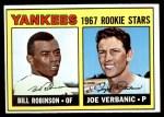 1967 Topps #442   -  Bill Robinson / Joe Verbanic Yankees Rookies Front Thumbnail