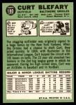 1967 Topps #180  Curt Blefary  Back Thumbnail