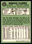 1967 Topps #169  Horace Clarke  Back Thumbnail