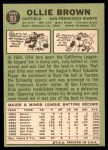 1967 Topps #83  Ollie Brown  Back Thumbnail