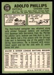 1967 Topps #148  Adolfo Phillips  Back Thumbnail