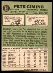 1967 Topps #34  Pete Cimino  Back Thumbnail