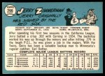 1965 Topps #299  Jerry Zimmerman  Back Thumbnail