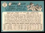 1965 Topps #237  Bernie Allen  Back Thumbnail