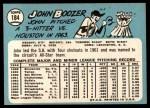 1965 Topps #184 xBRK John Boozer  Back Thumbnail