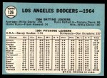 1965 Topps #126   Dodgers Team Back Thumbnail