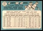 1965 Topps #244  Lindy McDaniel  Back Thumbnail