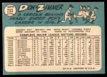 1965 Topps #233  Don Zimmer  Back Thumbnail