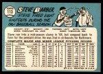1965 Topps #113  Steve Barber  Back Thumbnail