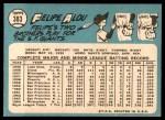 1965 Topps #383  Felipe Alou  Back Thumbnail