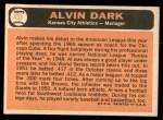 1966 Topps #433  Al Dark  Back Thumbnail