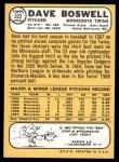 1968 Topps #322  Dave Boswell  Back Thumbnail