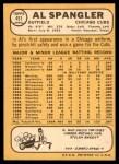 1968 Topps #451  Al Spangler  Back Thumbnail