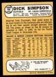 1968 Topps #459  Dick Simpson  Back Thumbnail