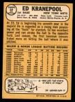 1968 Topps #92  Ed Kranepool  Back Thumbnail