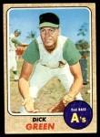1968 Topps #303  Dick Green  Front Thumbnail