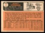 1966 Topps #396  Jerry Stephenson  Back Thumbnail