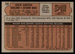 1972 Topps #780  Dick Green  Back Thumbnail
