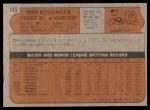 1972 Topps #145  Don Kessinger  Back Thumbnail