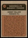1972 Topps #753   -  Denny McLain Traded Back Thumbnail