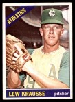 1966 Topps #256  Lew Krausse  Front Thumbnail